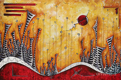 The Outpost Oversized Original Cityscape Apocalyptic Painting By Megan Duncanson Poster