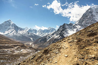 The Path To Cho La Pass In Nepal Poster
