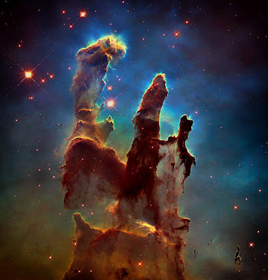 The Pillars Of Creation Poster by Mountain Dreams