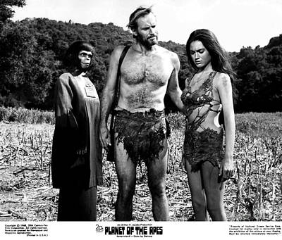 The Planet Of The Apes 1968 Poster by The Titanic Project