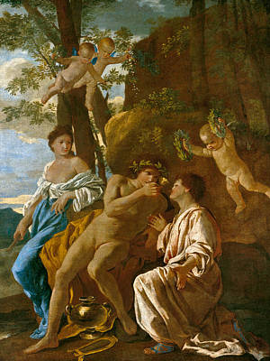 The Poet's Inspiration Poster by Nicolas Poussin
