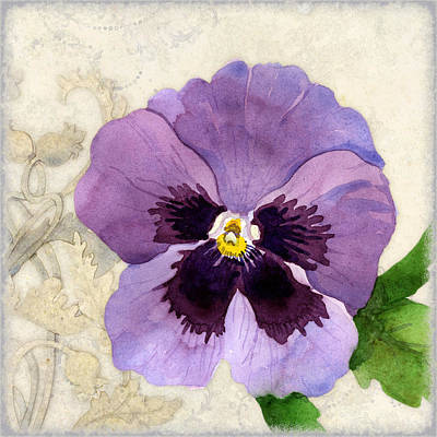 The Promise Of Spring - Pansy Poster by Audrey Jeanne Roberts