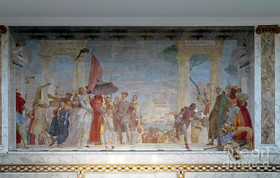 The Reception Of Henry IIi At The Villa Contarini, By Giambattis Poster