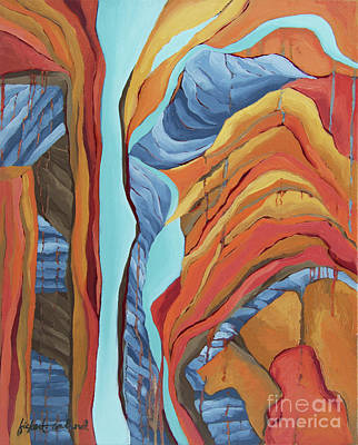 Poster featuring the painting The Rocks Cried Out, Zion by Erin Fickert-Rowland