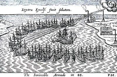The Spanish Armada Poster by English School