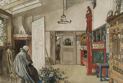 The Studio. From A Home Poster by Carl Larsson