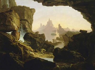 The Subsiding Of The Waters Of The Deluge Poster by Thomas Cole