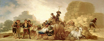 The Threshing Floor Poster by Francisco Goya