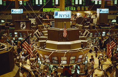 The Trading Floor Of The New York Stock Poster by Justin Guariglia