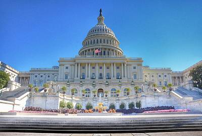 The Us Capitol Building - Washington D.c. Poster