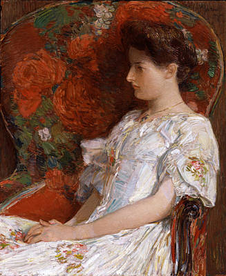 The Victorian Chair Poster by Childe Hassam
