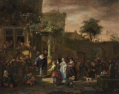 The Village Wedding Poster by Jan Steen