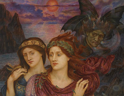 The Vision Poster by Evelyn de Morgan