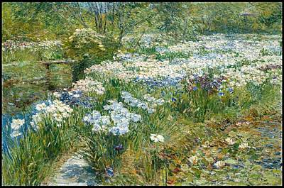 The Water Garden Poster by Childe Hassam