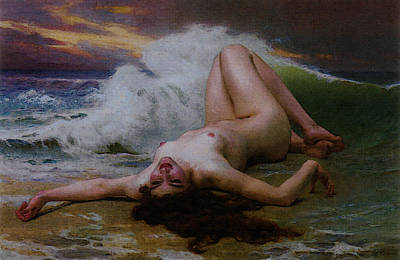 The Wave Poster by Guillaume Seignac