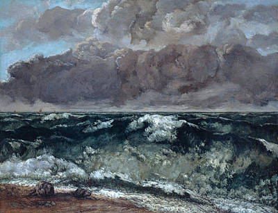 The Wave La Vague Poster by Gustave Courbet