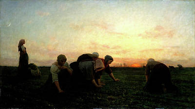 The Weeders Poster by Jules Breton