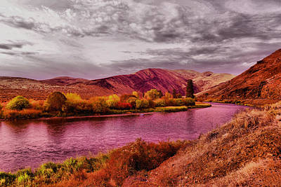 Poster featuring the photograph The Yakima River by Jeff Swan