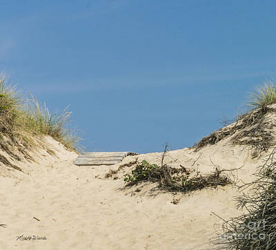 Poster featuring the photograph This Way To The Beach by Michelle Wiarda