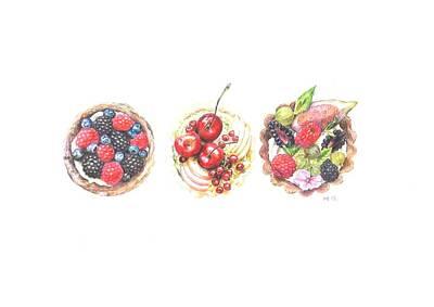 Three Berry Tartes Poster