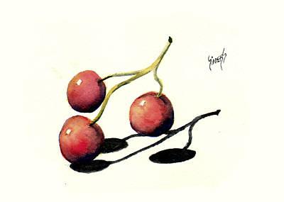 Three Cherries Poster