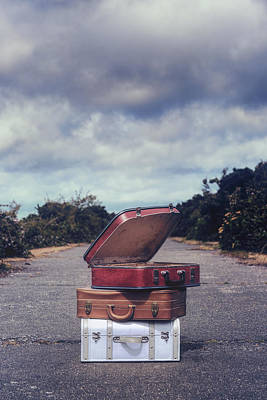 Three Suitcases Poster