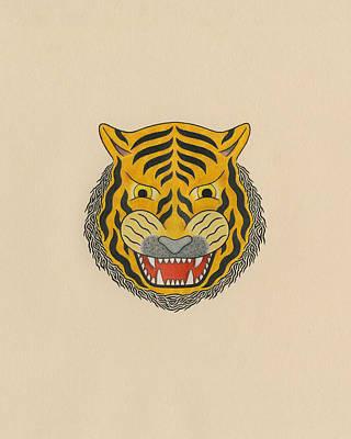 Tiger Head Poster by Matt Leines