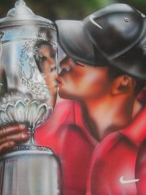 Tiger Woods Poster by Scott Easom