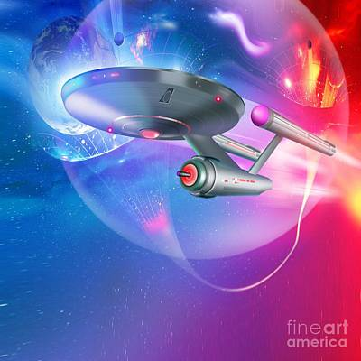 Time Traveling Spacecraft, Artwork Poster