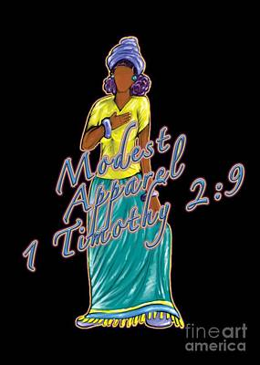 1 Timothy 2vs.9 Modest Apparel Poster