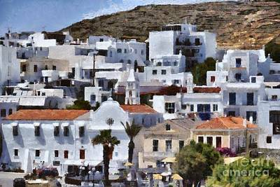 Tinos Town In Tinos Island, Greece Poster