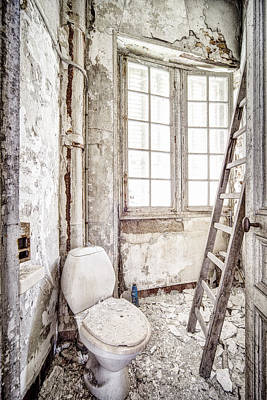 Toilet Escape Abandoned Places Poster by Dirk Ercken