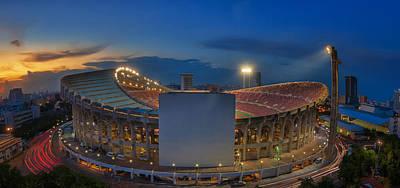 Top View Of Rajamangala Stadium  Poster by Anek Suwannaphoom