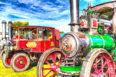Traction Engine And Steam Lorry Art Poster