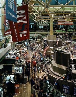 Trading Floor Of The New York Stock Poster by Everett
