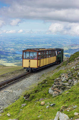 Poster featuring the photograph Train To Snowdon by Ian Mitchell