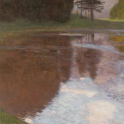 Tranquil Pond Poster by Gustav Klimt