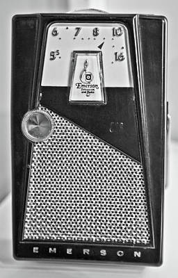 Poster featuring the photograph Transistor Radio Blown Up by Matthew Bamberg