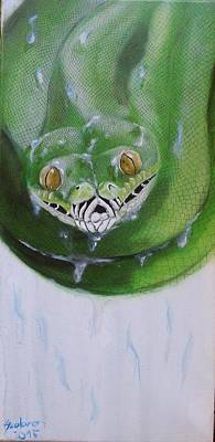 Tree Python Poster by Judit Szalanczi