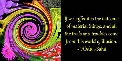 Trials And Troubles Poster by Baha'i Writings As Art