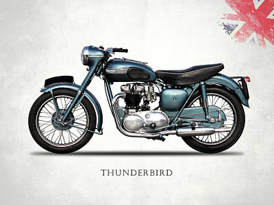 Triumph Thunderbird 1955 Poster by Mark Rogan