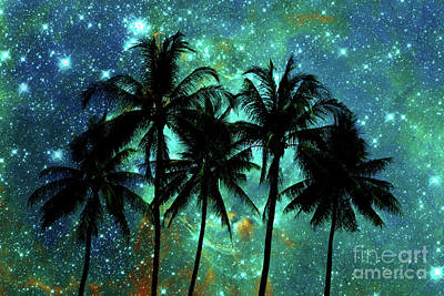 Poster featuring the photograph Tropical Night by Delphimages Photo Creations