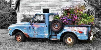 Truckbed Bouquet Poster