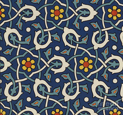 Turkish Textile Pattern Poster by Turkish School