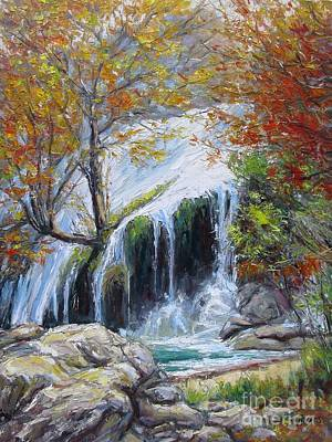 Turner Falls Oklahoma Poster by Vickie Fears