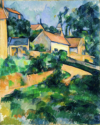 Turning Road At Montgeroult Poster by Paul Cezanne