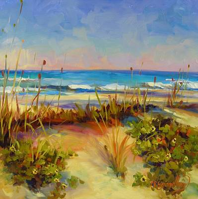 Poster featuring the painting Turquoise Tide by Chris Brandley