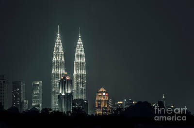 Poster featuring the photograph Twin Towers by Charuhas Images