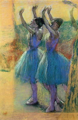 Two Blue Dancers Poster by MotionAge Designs