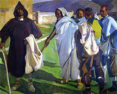 Typical Sorianos Poster by Joaquin Sorolla